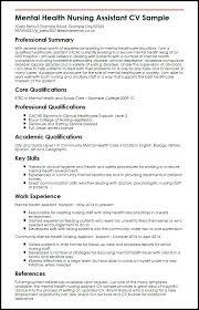Nursing Cv Template Staff Nurse Uk Mental Health Assistant