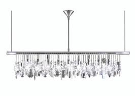 9 light 36quot width modern crystal chandelier crystal chandeliers within linear crystal chandelier gallery