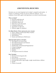 Winning Resume Job Winning Resumes Krida 19