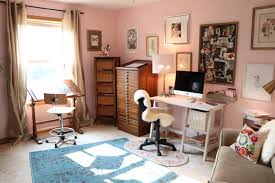 art for home office. Blogger Art Room Blush Pink Walls Grown Up For Home Office E