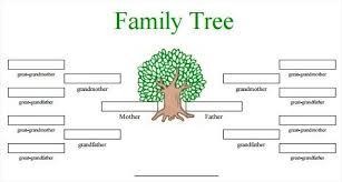 Free Family Tree Template Word Editable Family Tree Free
