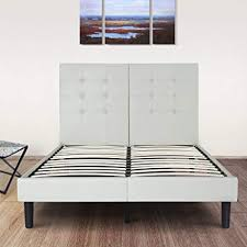 slate bed frame. Exellent Slate Olee Sleep 14 Inch Dura Metal Faux Leather Wood Slate Bed Frame Burton  Queen 14PB03Q Throughout