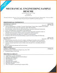 Sample Resume Mechanical Engineer Sample Resume In Pdf Chef Resume Template Resume Format Pdf For 81
