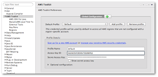 Access Key Set Up Aws Credentials Aws Toolkit For Eclipse