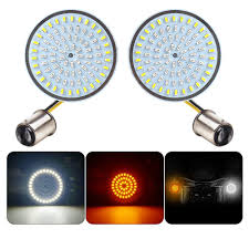 Bullet Lights For Harley Davidson Led Turn Light For Harley Davidson Sportster Street Glide Special Road King Special 1157 Bullet Style Inserts Front Turn Signals White Amber