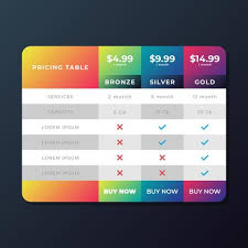 Pricing Table Templates Pricing Table Templates Download Free Vectors Clipart