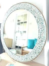 various at home bathroom mirrors nautical mirrors beach style bathroom mirrors large round sea glass mirror