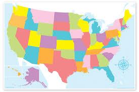 Blank U S Map Chart Magnetic