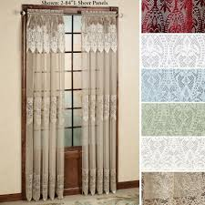 easy style valerie sheer panels with attached valances