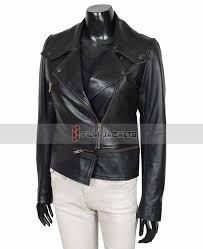 womens motorcycle leather jacket las black jacket