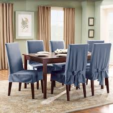 image of dining room chair seat covers blue