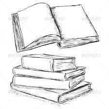 blank open book sketch man made objects objects