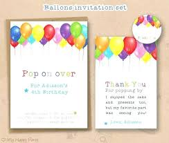 Balloon Birthday Invitations Custom Kids Birthday Invitation Hot Air Balloon Personalized Die Cut