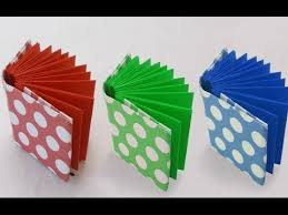 diy project ideas how to make a mini origami book kids crafts simple origami