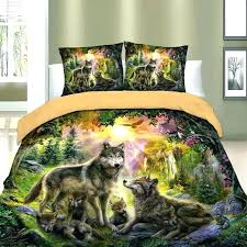 forest bedding wolf family friends set zoomed floor