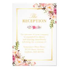 wedding reception invitations, 9200 wedding reception Wedding Announcement And Reception Invitation wedding reception elegant chic floral gold frame card wedding announcement reception invitation