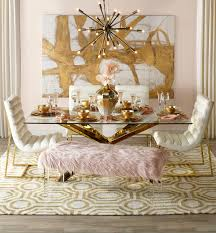 gold dining room pink dining rooms