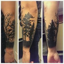 татуировка на ноге лес значение тату лес фото и эскизы тату лес