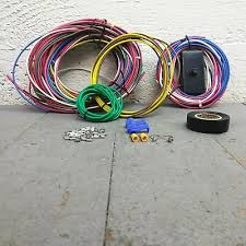 dune buggy universal wiring harness w fuse box fits empi 9466 vw Trailer Tail Light Wiring Harness at Universal Wiring Harness Kit Dune Buggies