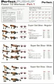 Power Of 10 Workout Chart Pushup Exercises Google Search Fitness Workout