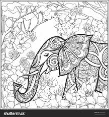 tested outline drawings for colouring coloring page with elephant in forest book and older 9215 hermes