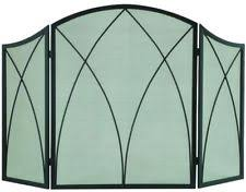 glass fireplace screen. Arched 3-Panel Fireplace Screen Powder Coated Mesh Home Decorative New Glass