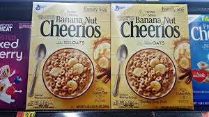 you will find general mills cereals like lucky charms frosted flakes banana nut cheerios chocolate peanut er cheerios cinnamon toast crunch shreds