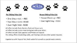 Pet House Sitting Services By Pet Sitters At Blairgowrie Randburg