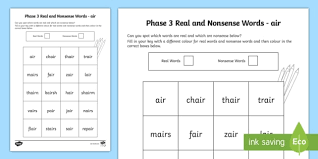 Worksheets are phonics stories air, super phonics 2, progressive way to teach, beginner book 2 handwriting final oct 2015, blends sn, touchphonics, bar scar guit ar car spar jagu ar far star handleb ar jar, hi there today we are going to. Phase 3 Air Colour By Phoneme Real And Nonsense Words Worksheet Phase 3 Air