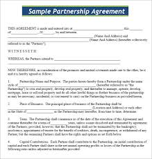 Agreement Templates Business Contract Template Lovely Business Contract For Partnership Shawn Weatherly