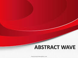 Red Ppt Free Abstract Red Wave Powerpoint Template