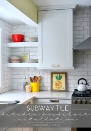 Subway Tile Patterns Kitchen Subway Tile Kitchen Backsplash Installation Jenna Burger