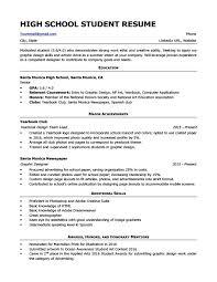 High School Student Summer Jobs Sample Resume Of High School Student High School Student Resume
