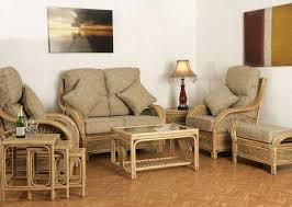Wicker Living Room Furniture Bamboo Furniture Set Rattan Indoor Furniture Tropical Rattan