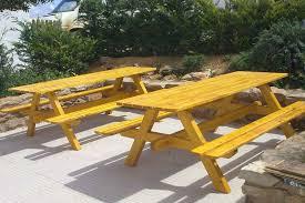 wood bbq table