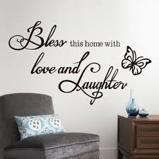 Small Picture Aliexpresscom Buy Bless Love Laughter Vinyl Quotes Butterfly