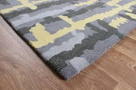 matrix ripley yellow thick wool rug max38
