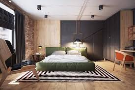 modern bedroom green. Green-bed-brick-walls-master-bedroom-inspiration-ideas- Modern Bedroom Green
