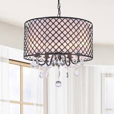 chandelier enchanting drum light chandelier black drum chandelier carina antique bronze finish drum shade crystal