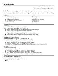 Sample Caregiver Resume Impressive August 48 Orlandomovingco