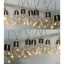 20 piece lightbulb string solar lights
