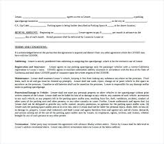Free Rental Application Template Garage Contract Forms Lease ...