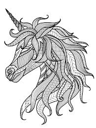 Pretty Unicorn Adult Coloring Page Activities For Seniors Unico