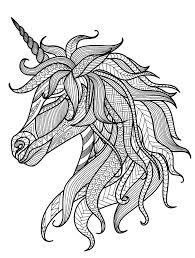pretty unicorn coloring page more