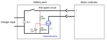 spark eliminator circuit built into battery pack jpg anti spark circuit built into the battery pack 1