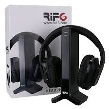 tv headphones. rif6 wireless headphones for tv with rf transmitter watching and listening hard of hearing \u2013 digital over ear cordless rechargeable 20 tv