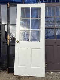 antique old vine exterior back door front door 32 x79 wood with top gl