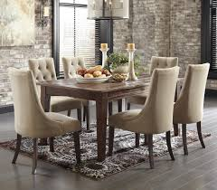 of 2 trendy signature design by ashley mestler 7 piece dining set with upholstered side chairs upholstered