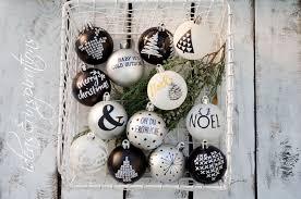 Christmas Ornaments Christbaumschmuck Schwarz Weiß Silber