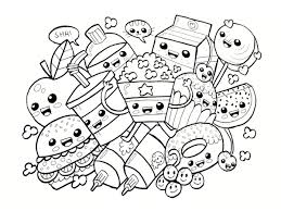 Coloriage Kawaii Nourriture 15 Dessins Imprimer